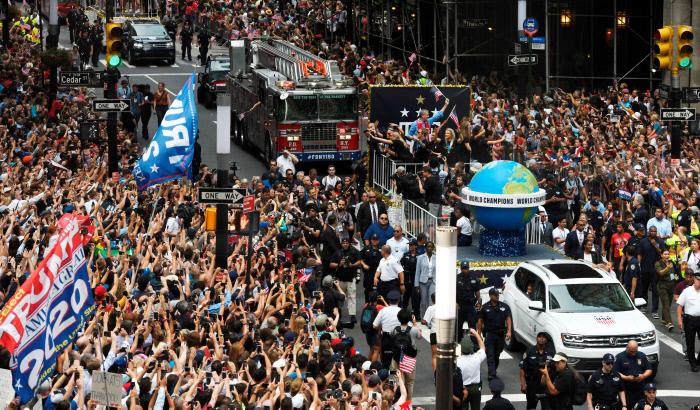 Football - Coupe du monde féminine - Coupe du monde 2019: les championnes américaines célébrées par des milliers de personnes à New York