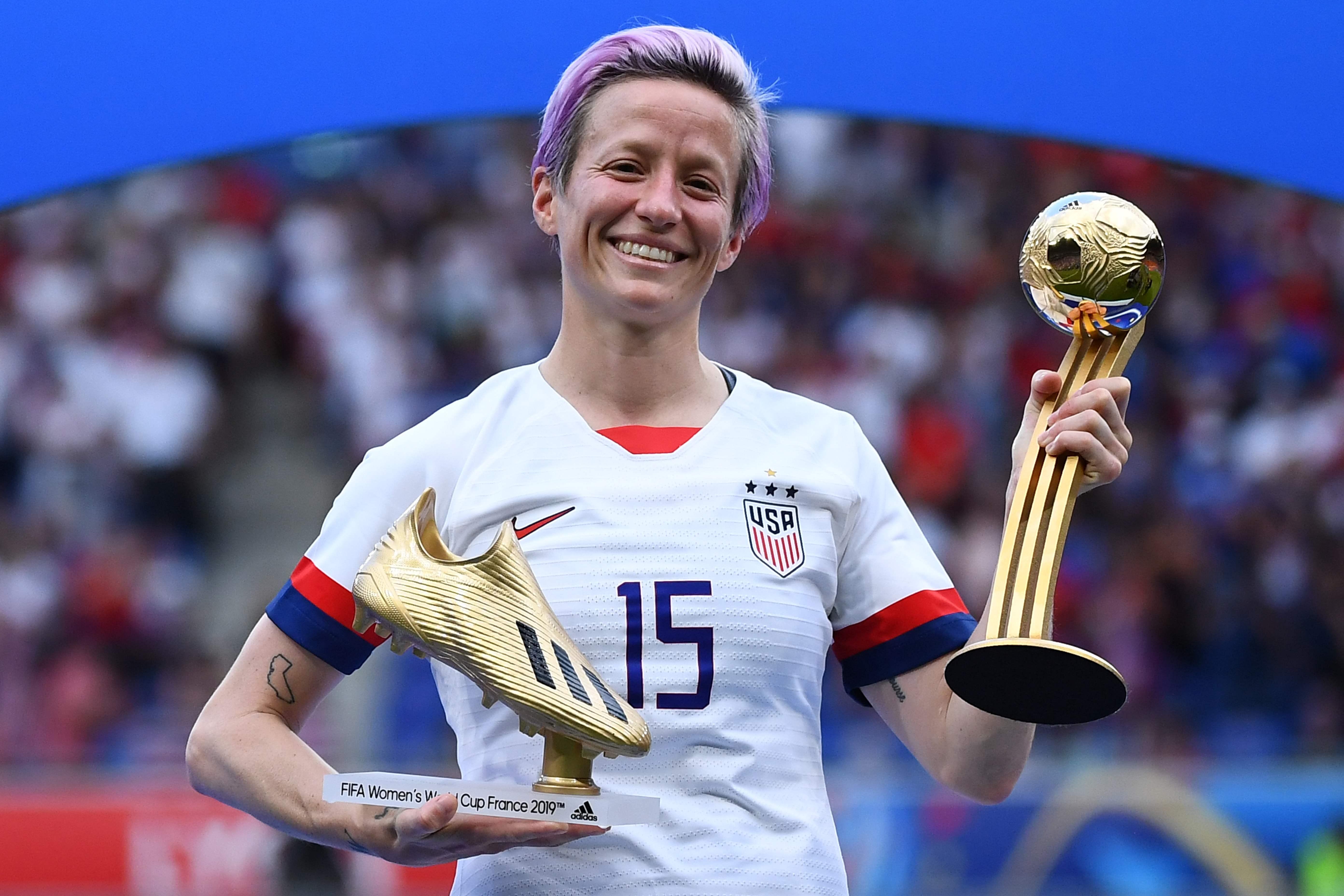 Football - Coupe du monde féminine - Coupe du monde féminine 2019 : Megan Rapinoe, une star à tous points de vue