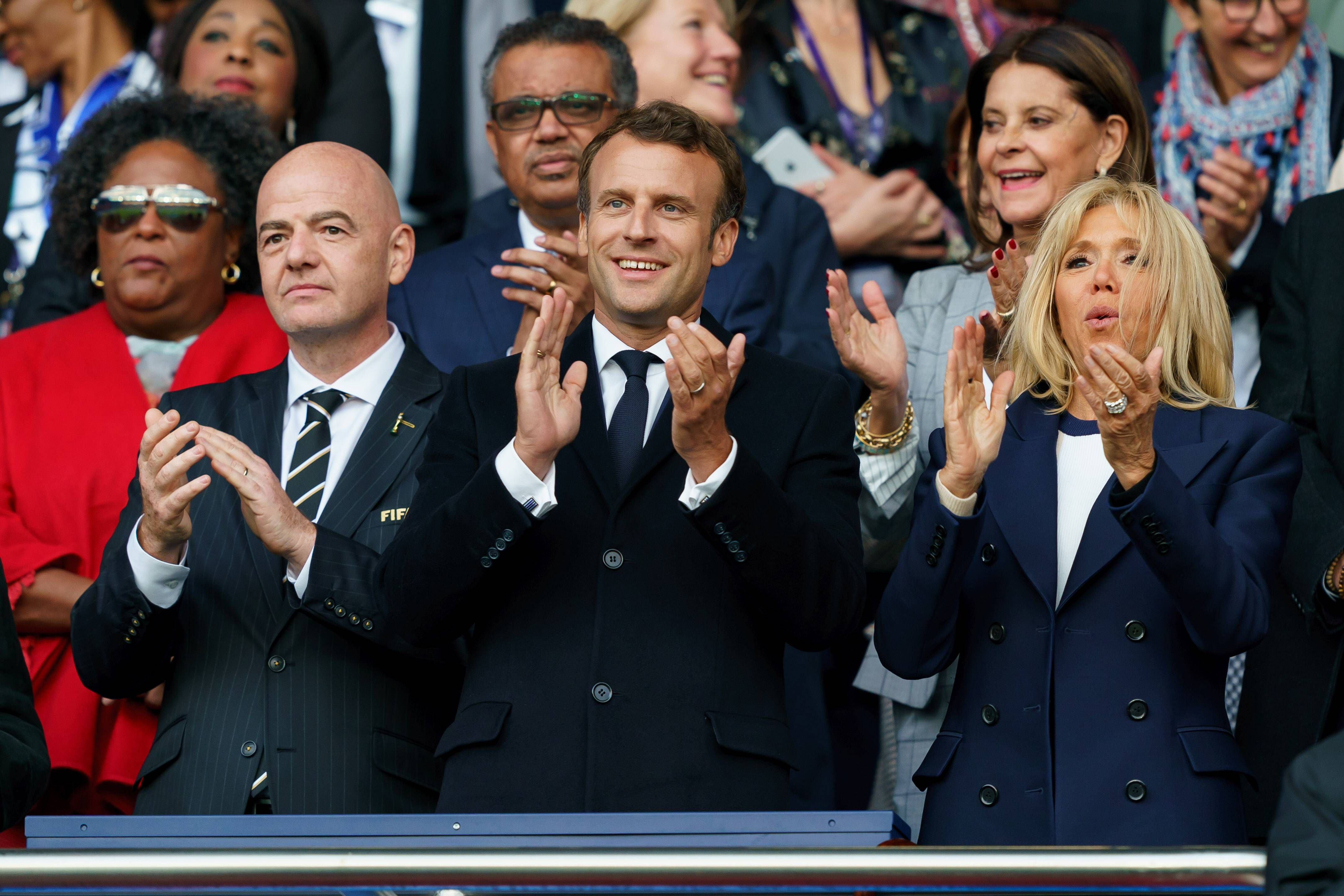 Football - Coupe du monde féminine - Pour Macron, les Bleues ont «définitivement gagné le coeur des Français»
