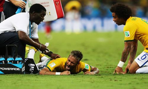 Coupe du monde neymar quitte la competition le - Coupe du monde foot bresil ...