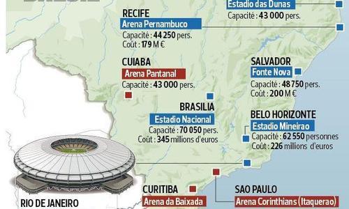 La carte des stades article hover - Carte coupe du monde 2014 ...