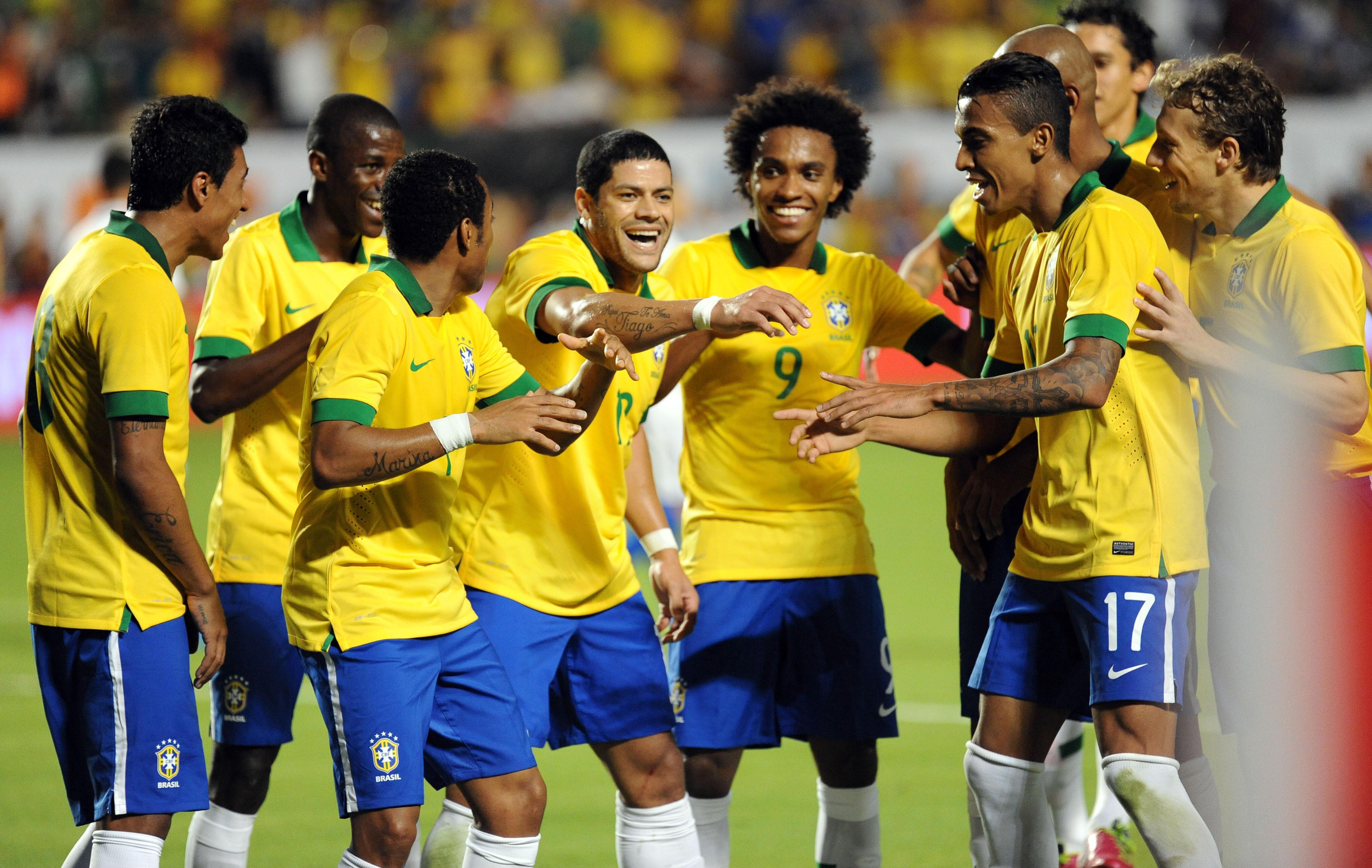 Le br sil en d monstration coupe du monde football - Coupe du monde foot bresil ...