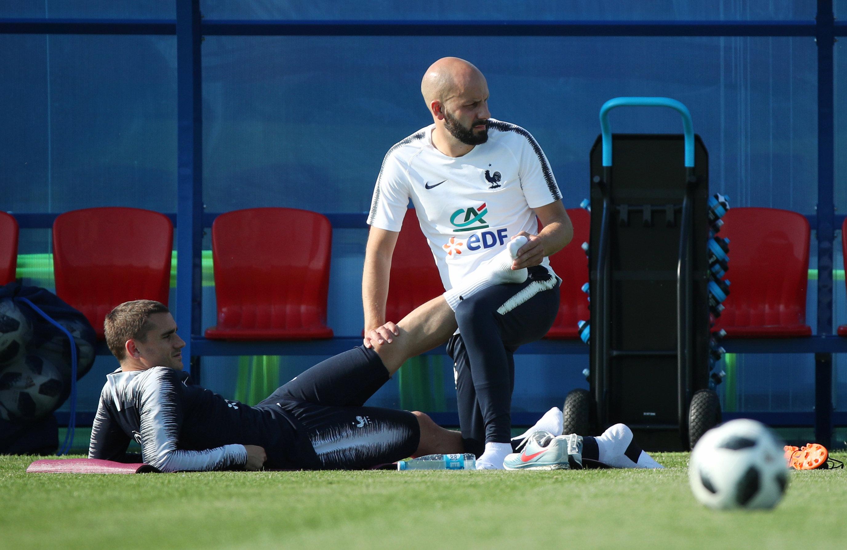 Football - Coupe du monde - France-Pérou J-3 : entraînement allégé pour Griezmann