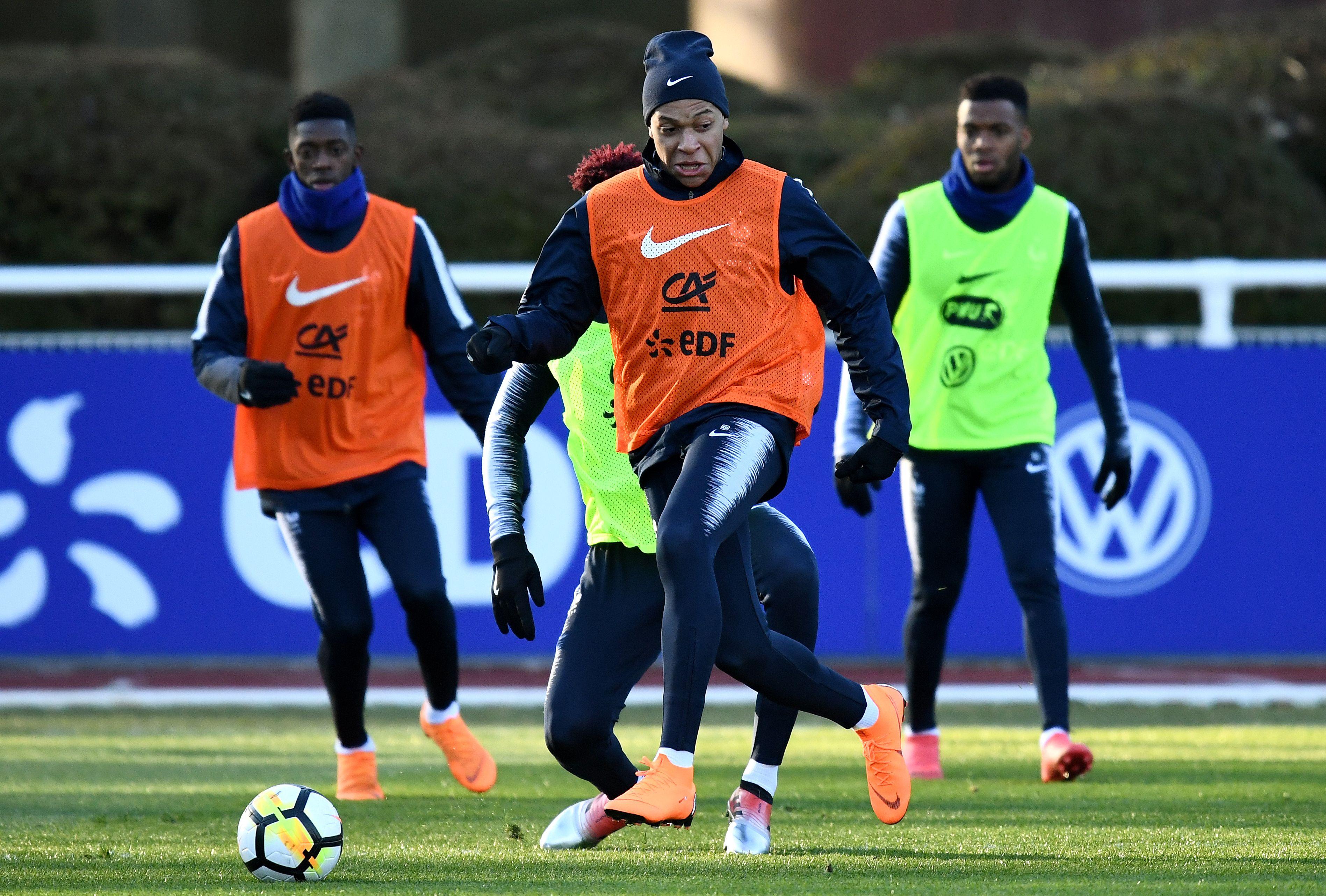 Football - Coupe du monde - Martial, Pogba et Thauvin ménagés avec les Bleus