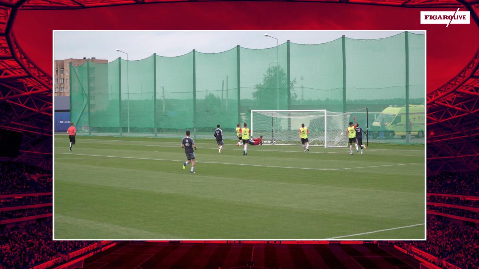 Football - Coupe du monde - Minute du Mondial : le carton plein des Bleus à l'entraînement