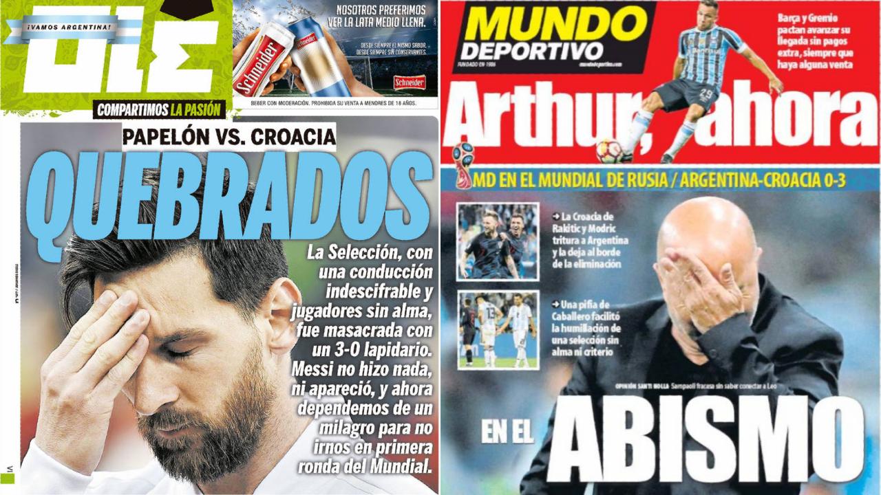 Football - Coupe du monde - «Ridicule», «Honte», «Fiasco» : la presse mondiale allume l'Argentine