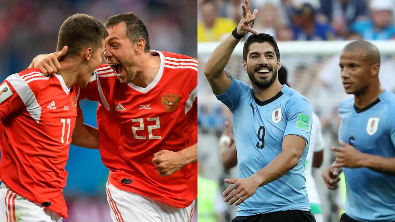 Football - Coupe du monde - Russes et Uruguayens prêts au combat pour la première place