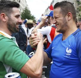Supporters irlandais et français