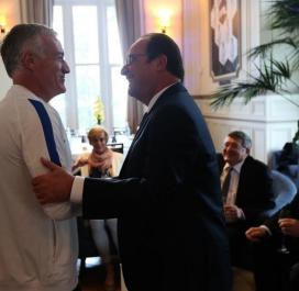 François Hollande et Didier Deschamps