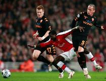 Arsenal-AS Roma, Emmanuel Eboue Philippe Mexès
