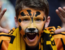 Arsenal-Hull : joie supporters