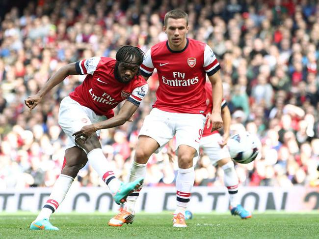 Arsenal-Chelsea, Gervinho