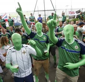 Supporteurs Nord-Irlandais