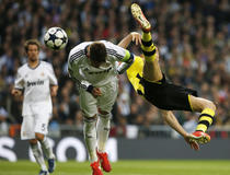 Real-Dortmund : Lewandowski acrobatique