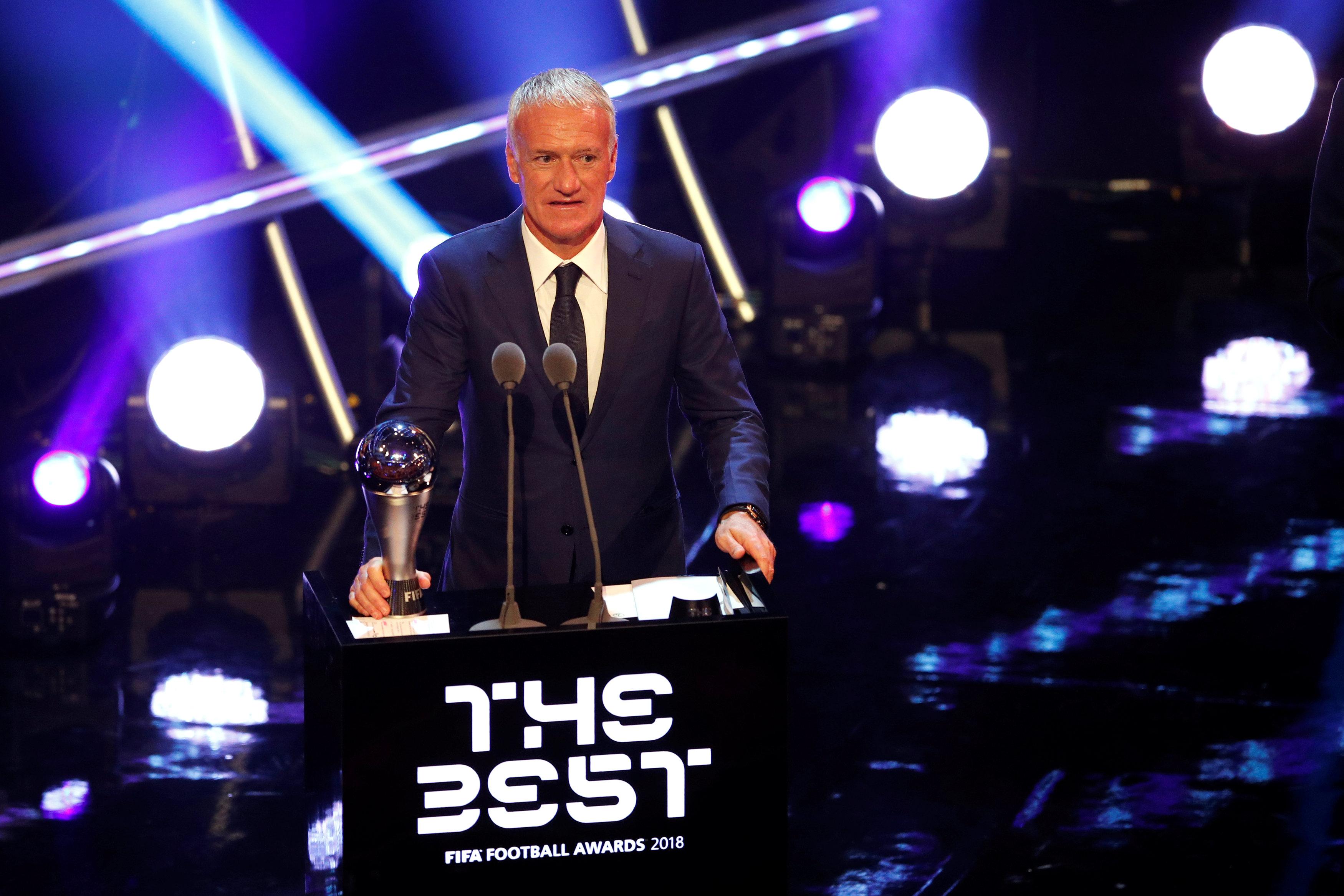 Football - Equipe de France - Didier Deschamps élu meilleur entraîneur du monde