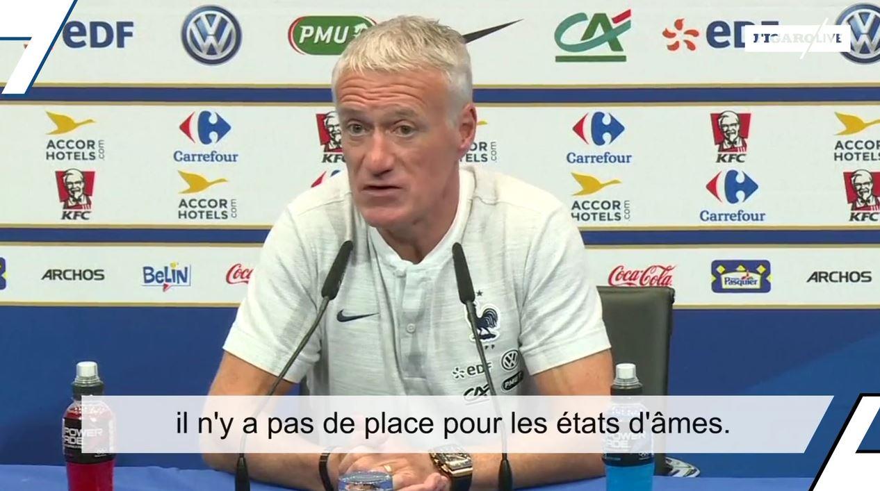 Football - Equipe de France - Didier Deschamps : «Rabiot a fait une énorme erreur»