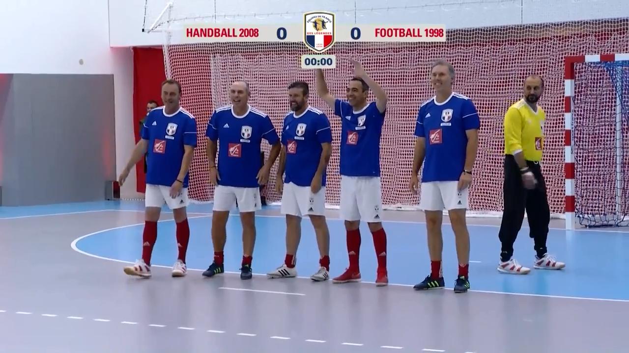 Football - Equipe de France - Handball 2008 - France 98 : le résumé du match des légendes en vidéo