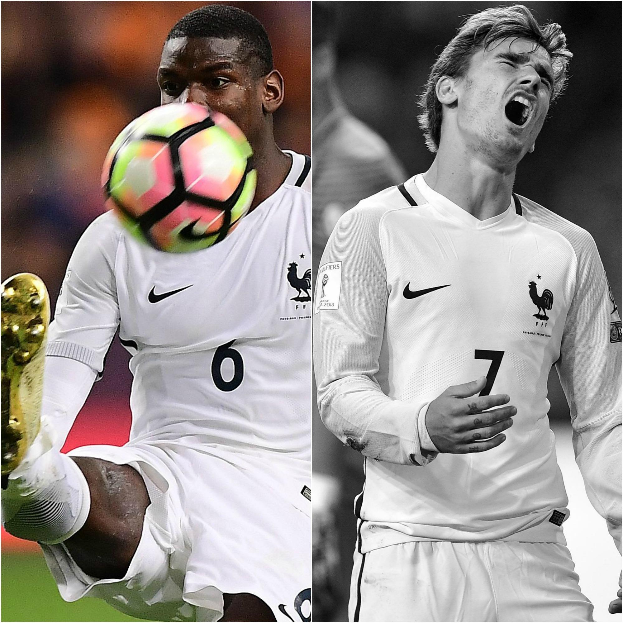 Football - Equipe de France - Les notes des Bleus : Pogba en transe, les attaquants en souffrance