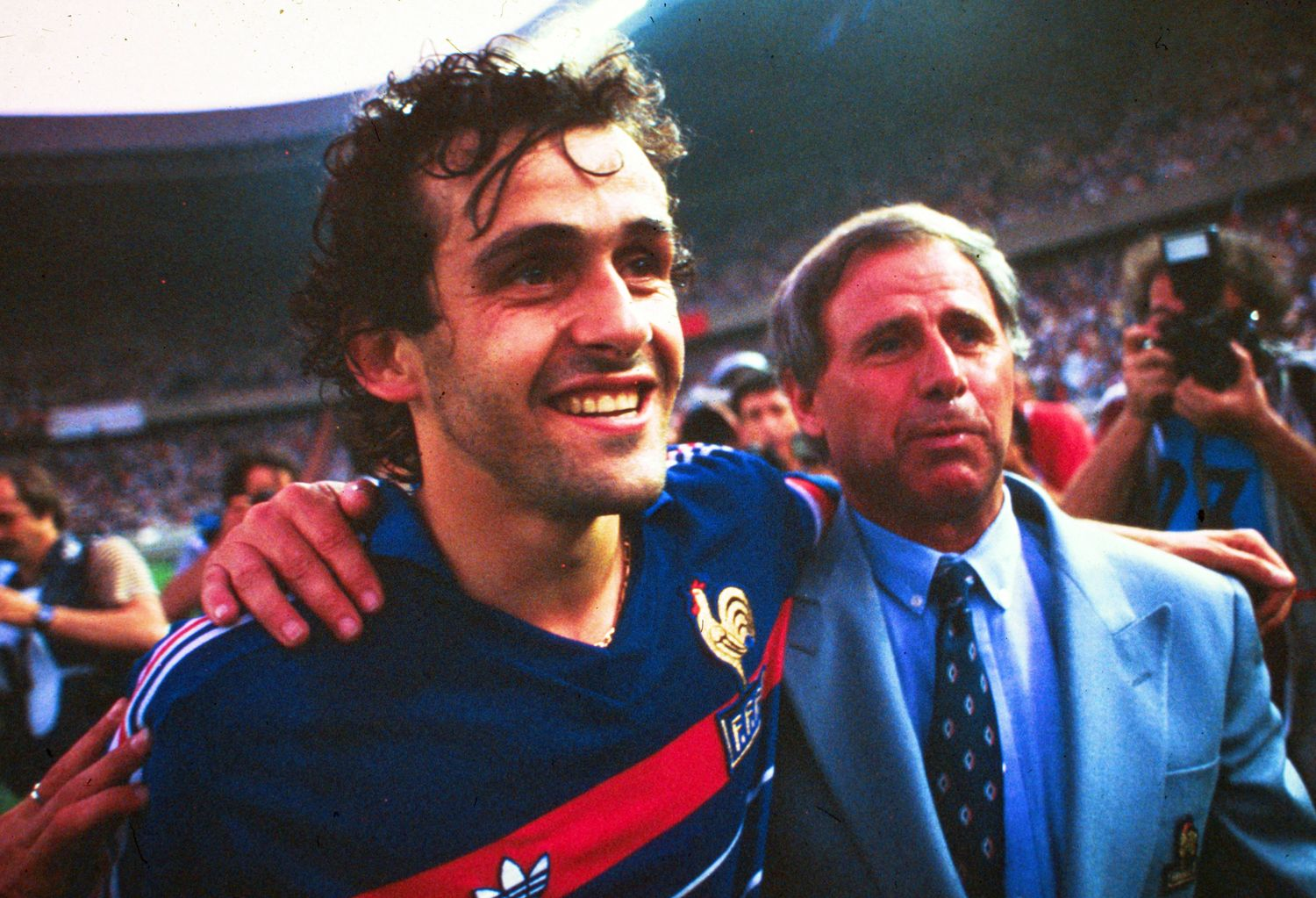 Football - Equipe de France - Michel Platini et la France du foot rendent hommage à Michel Hidalgo