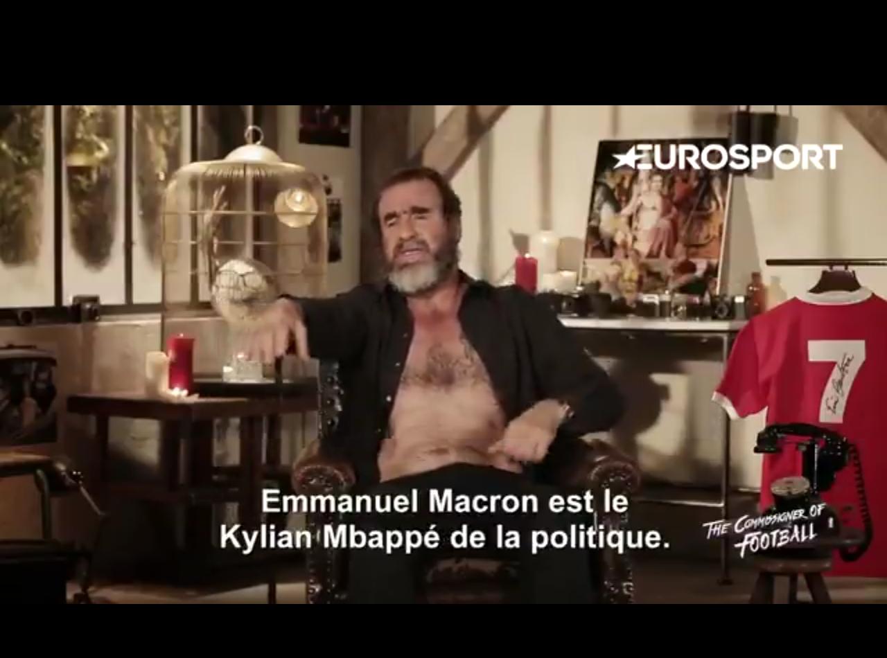 Football - Equipe de France - Pour Eric Cantona, «Macron est le Mbappé de la politique»
