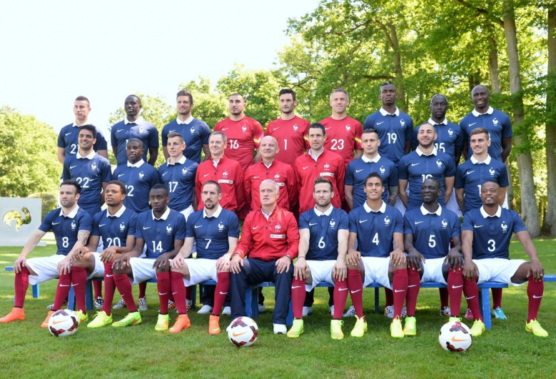 Photo officielle des Bleus