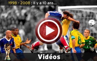 Revivez le mondial 98 en vid os france 98 10 ans d j equipe de france football - France 98 coupe du monde ...