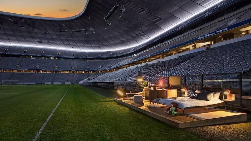 Football - Etranger - Le Bayern Munich propose une chambre sur la pelouse de l'Allianz Arena