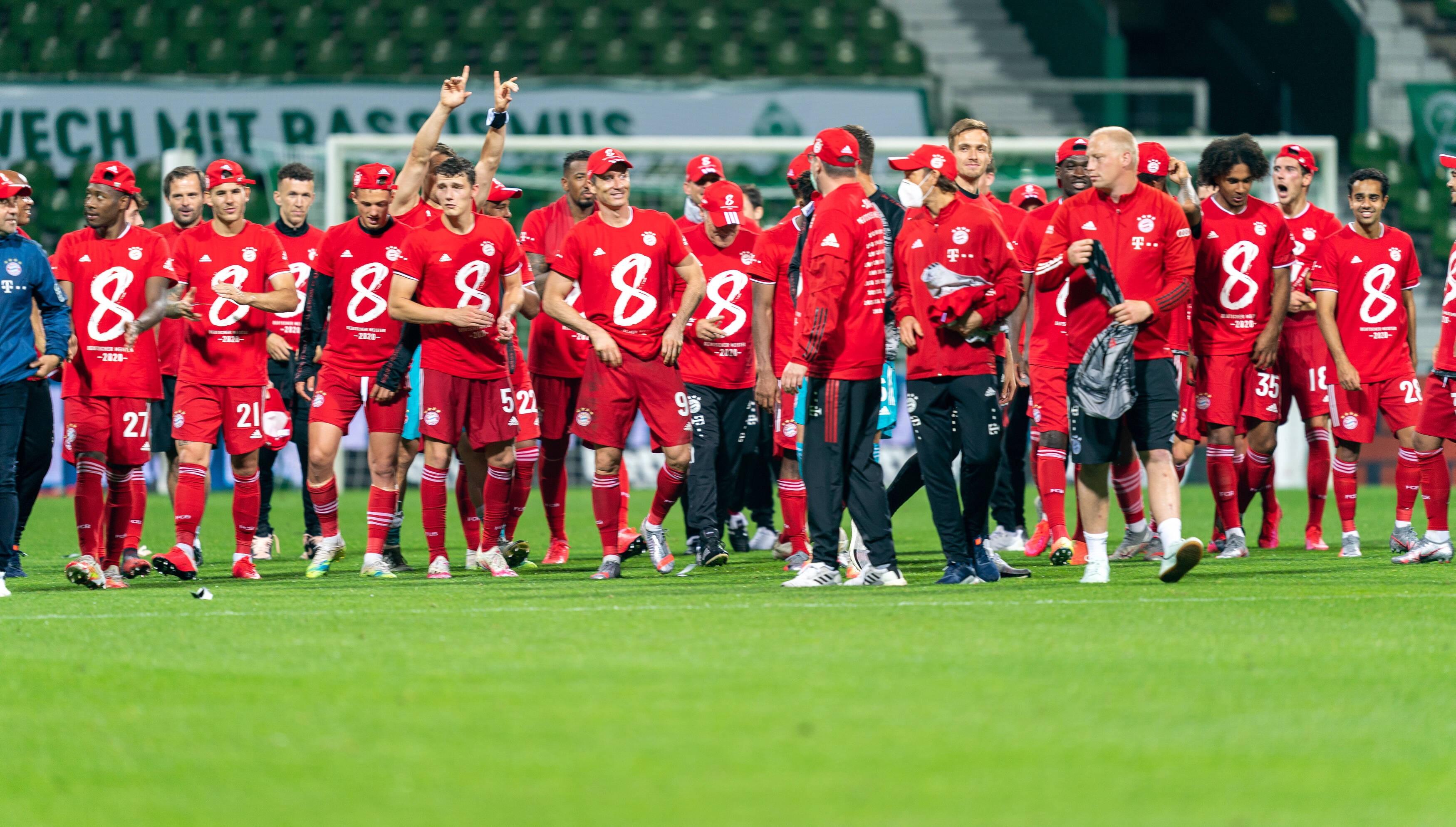 Football - Etranger - Vidéo : les huit titres consécutifs du Bayern Munich depuis 2013