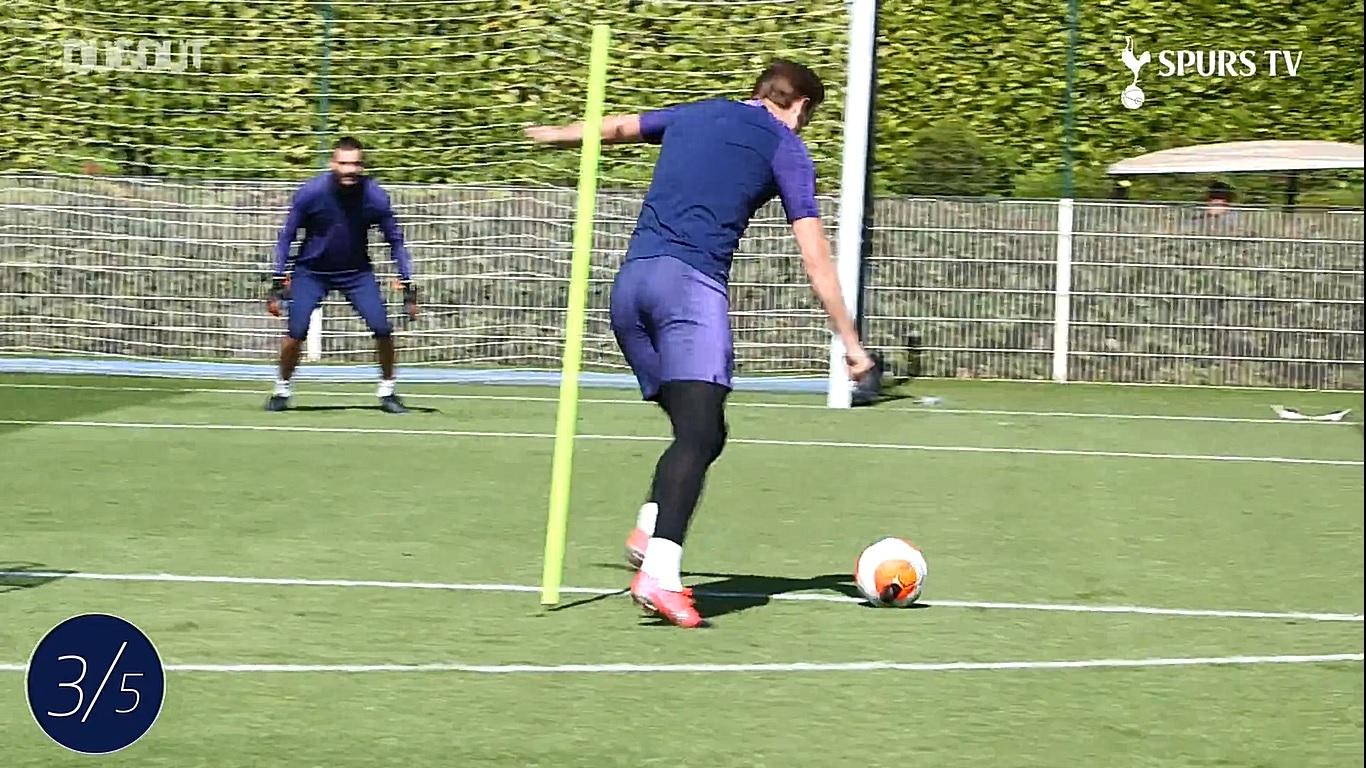 Football - Etranger - De retour à l'entraînement, Harry Kane défie Hugo Lloris (vidéo)
