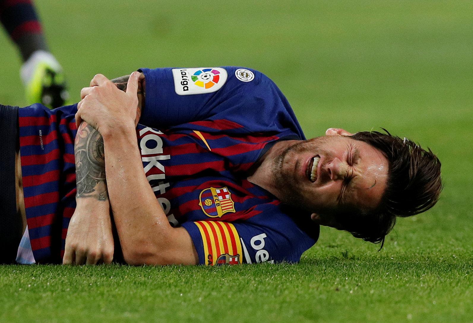 Football - Etranger - Inquiétude autour de Messi, blessé à un coude