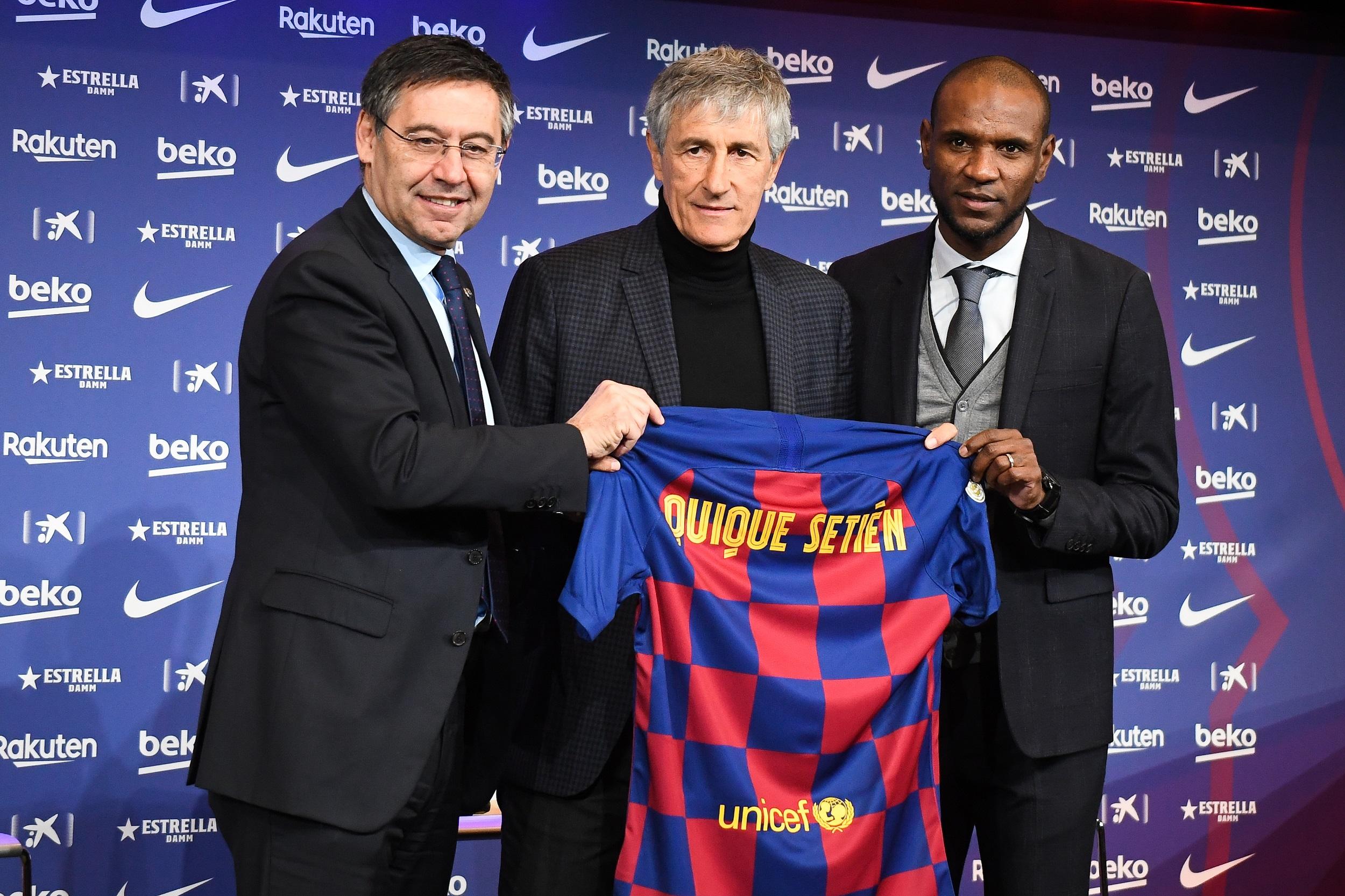 La présentation de Quique Setién au FC Barcelone