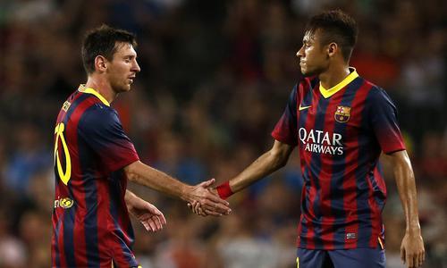 """�������� """"�����"""" : """"( ���� ) ���� ��� ��� ���� .. ������ ����� ��� ( ����� )"""" !! Neymar-Messi-une-pre"""