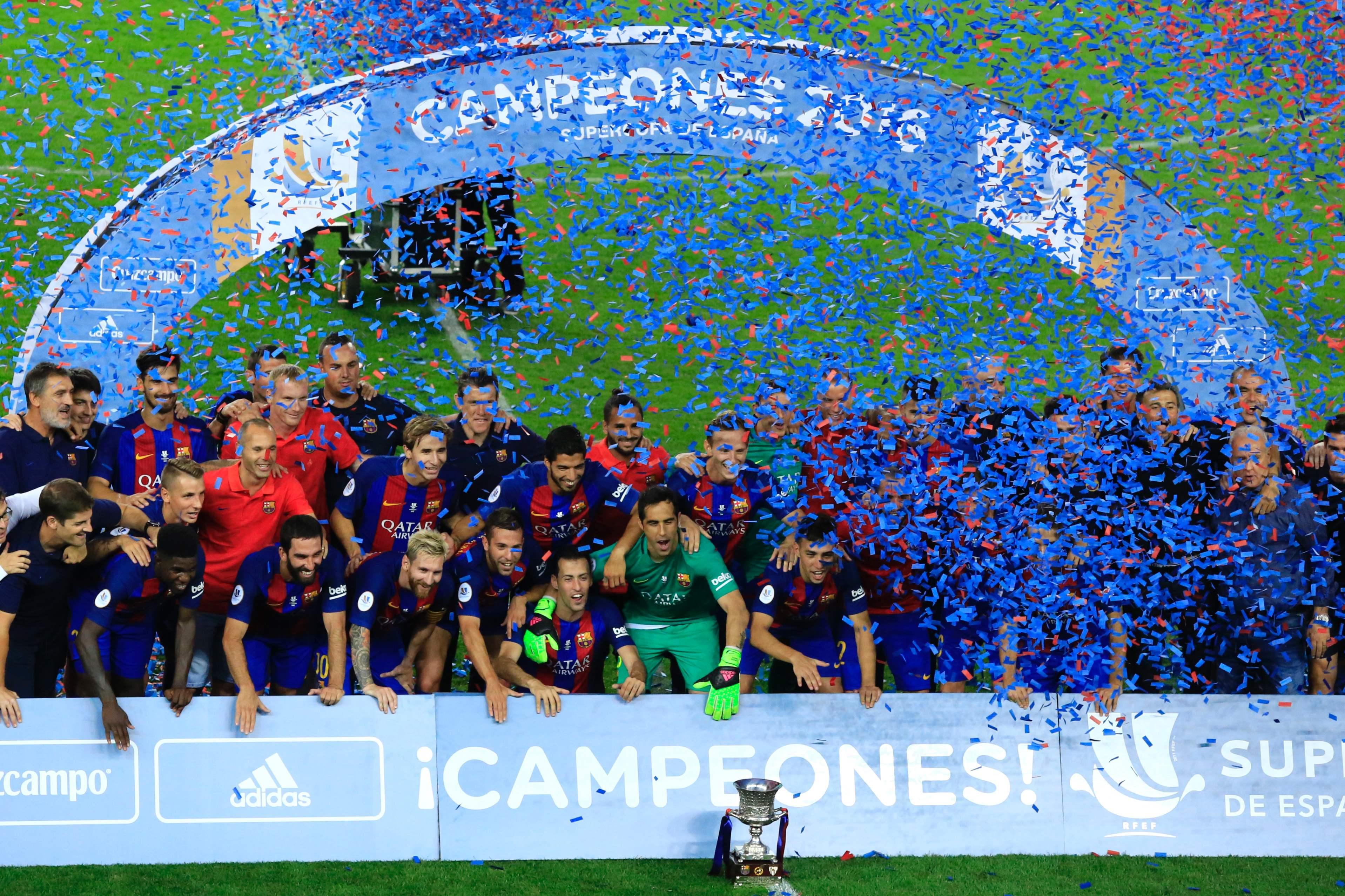 Supercoupe d 39 espagne promenade de rentr e pour barcelone espagne etranger football - Final super coupe d espagne ...