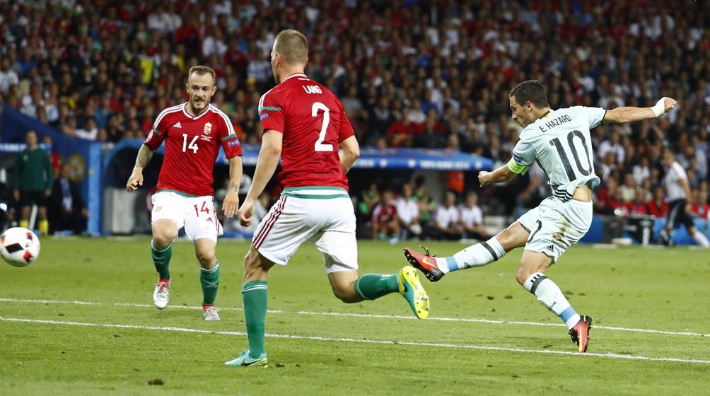 Football - Euro 2016 - La superbe frappe de Hazard et le festival de buts de la Belgique