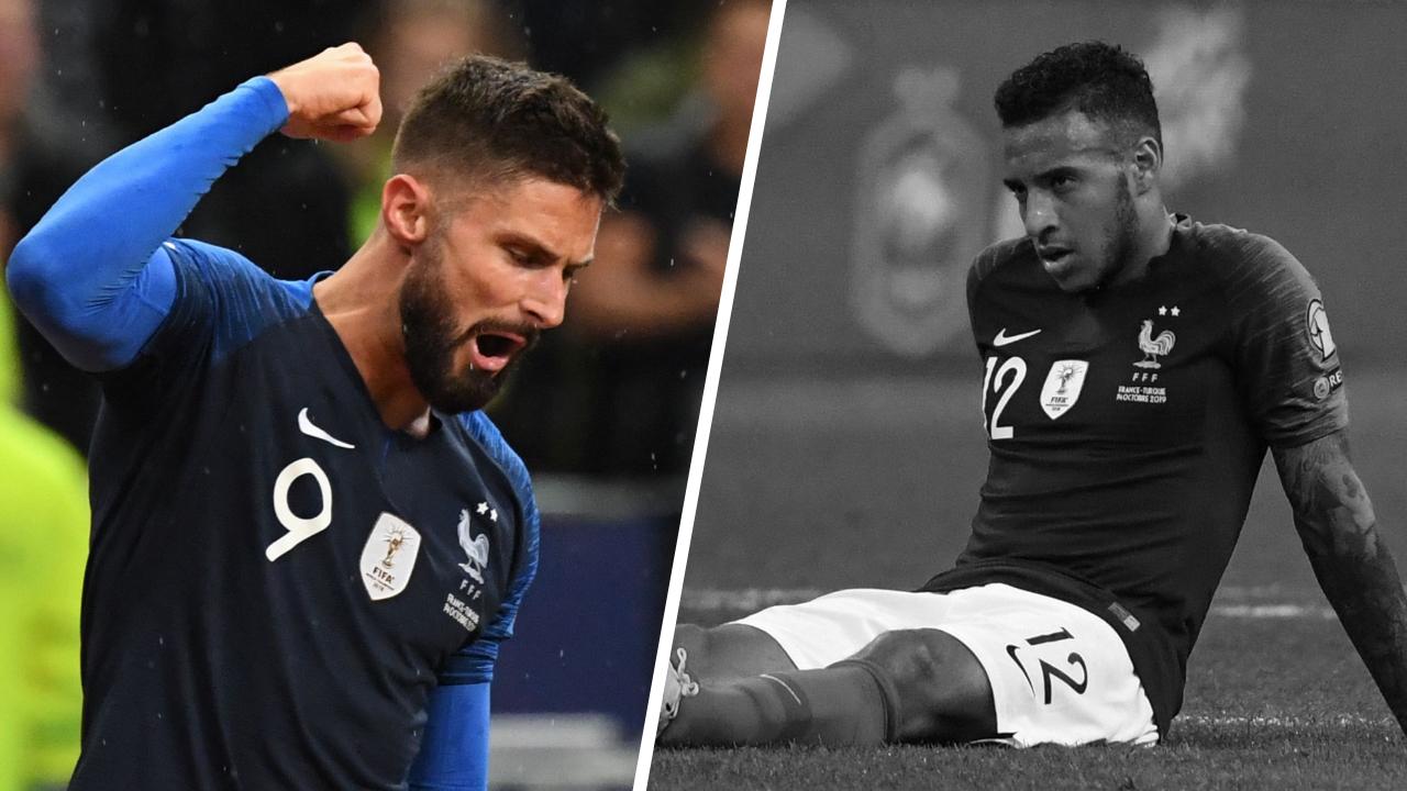 Tops/Flops France-Turquie : Giroud l'incontournable, les Bleus encore friables