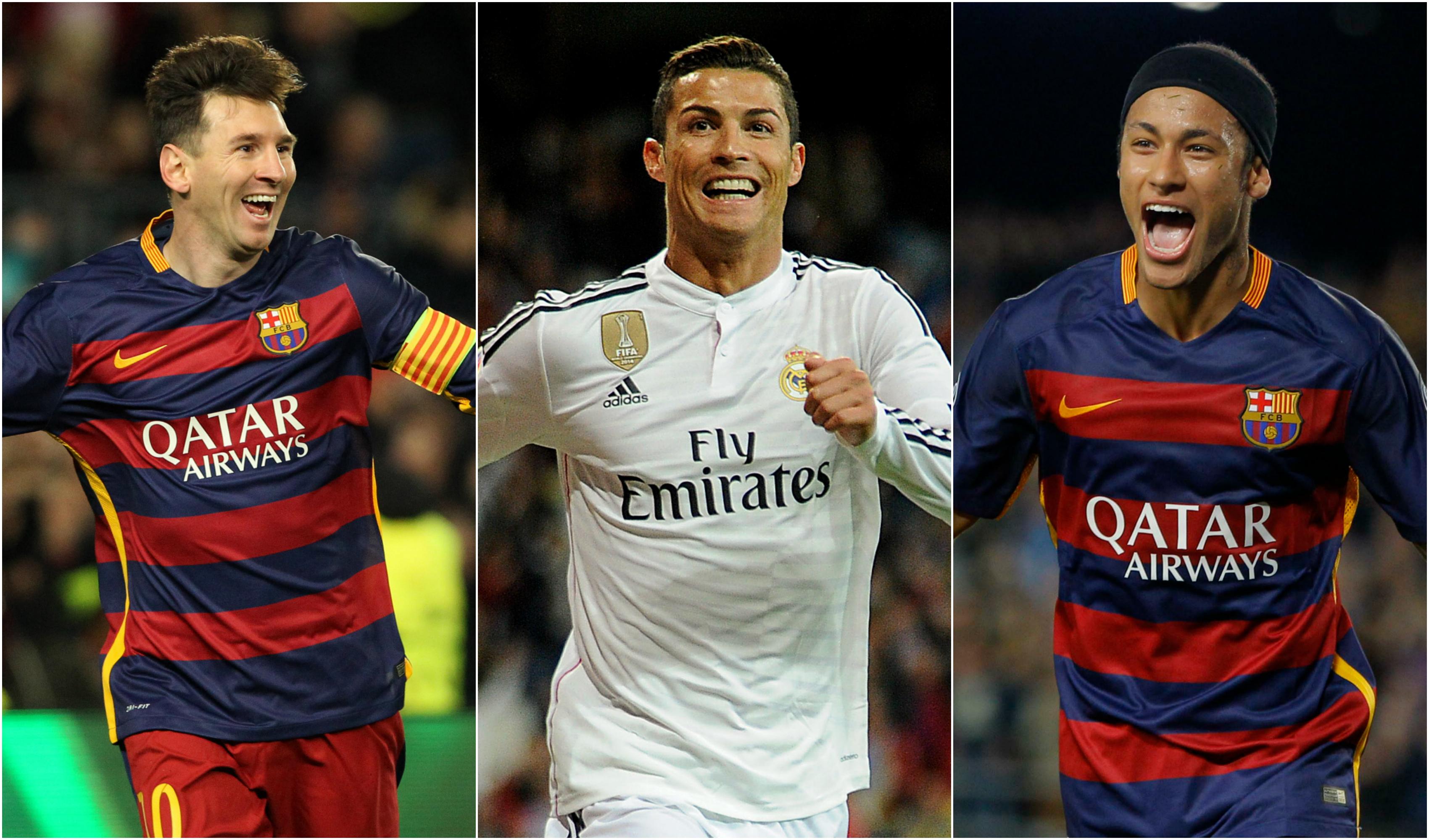 Football - Fifa Ballon d'Or  - Ballon d'Or: Messi et Ronaldo accompagnés par Neymar