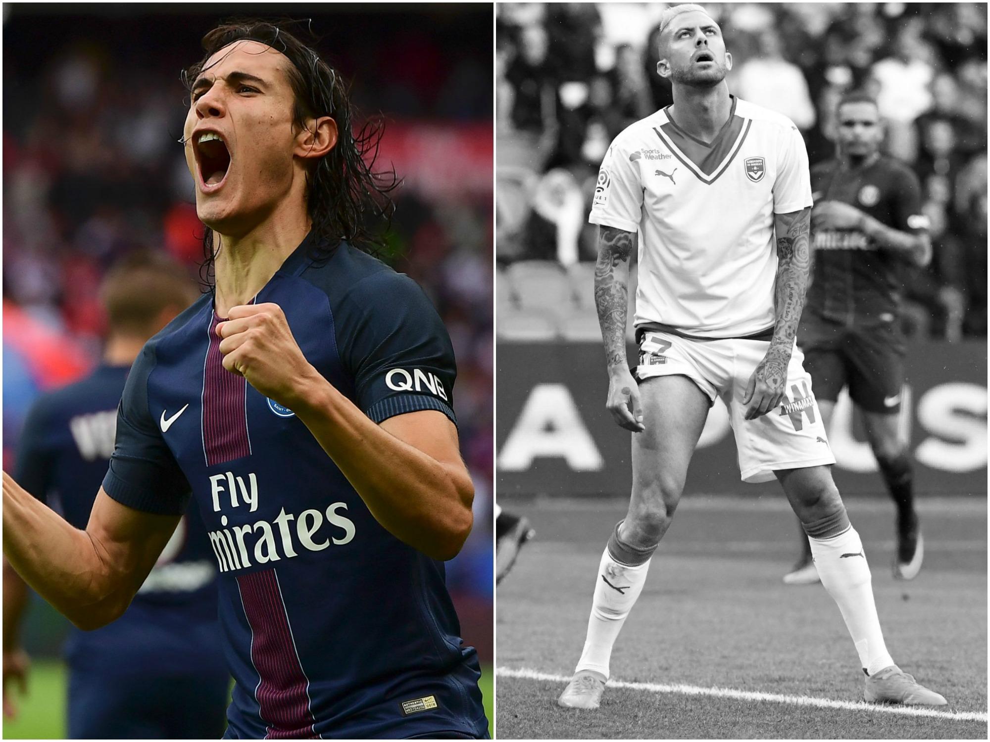 Football - Ligue 1 - Tops/Flops PSG-Bordeaux : Cavani en état de grâce, des Girondins inoffensifs