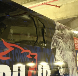 Le bus lyonnais caillassé