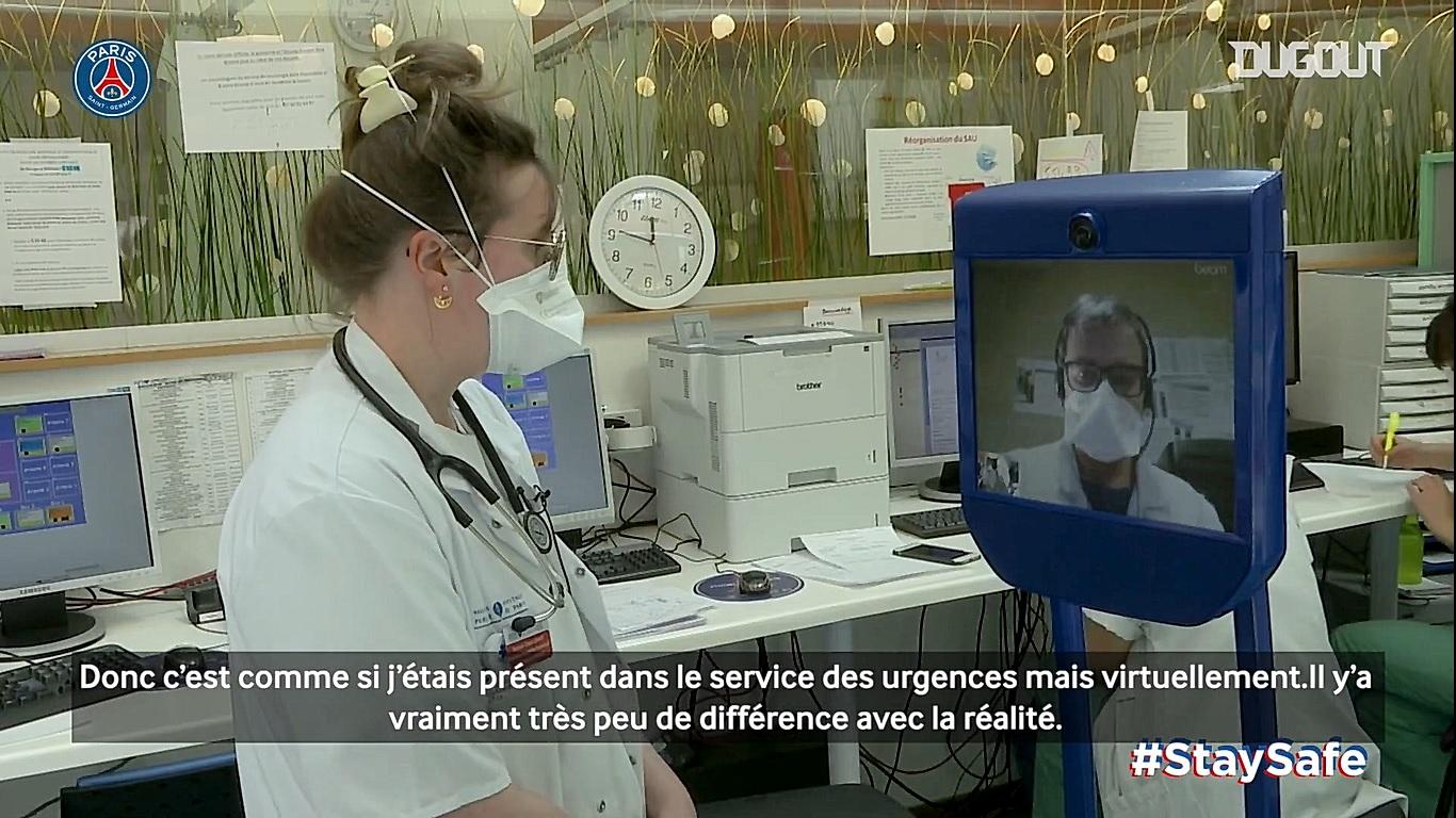 Football - Ligue 1 - Coronavirus : le PSG met son robot téléguidé à disposition des soignants