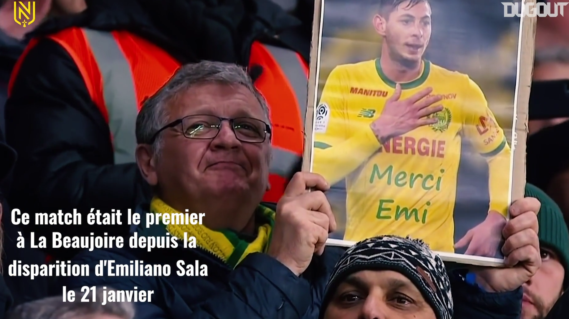 Football - Ligue 1 - Il y a un an, le vibrant hommage de la Beaujoire à Emiliano Sala