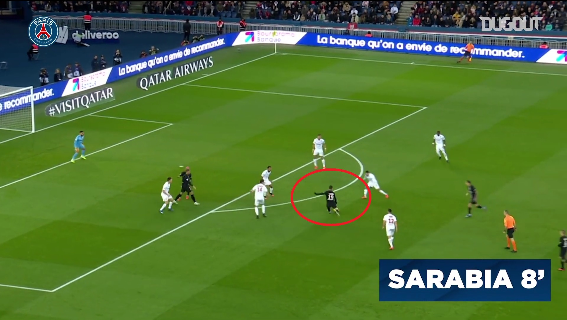 Football - Ligue 1 - Le but du week-end en Ligue 1 : le missile de Sarabia face à Montpellier