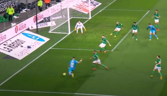 Football - Ligue 1 - Le but génial de Dimitri Payet face à Saint-Etienne