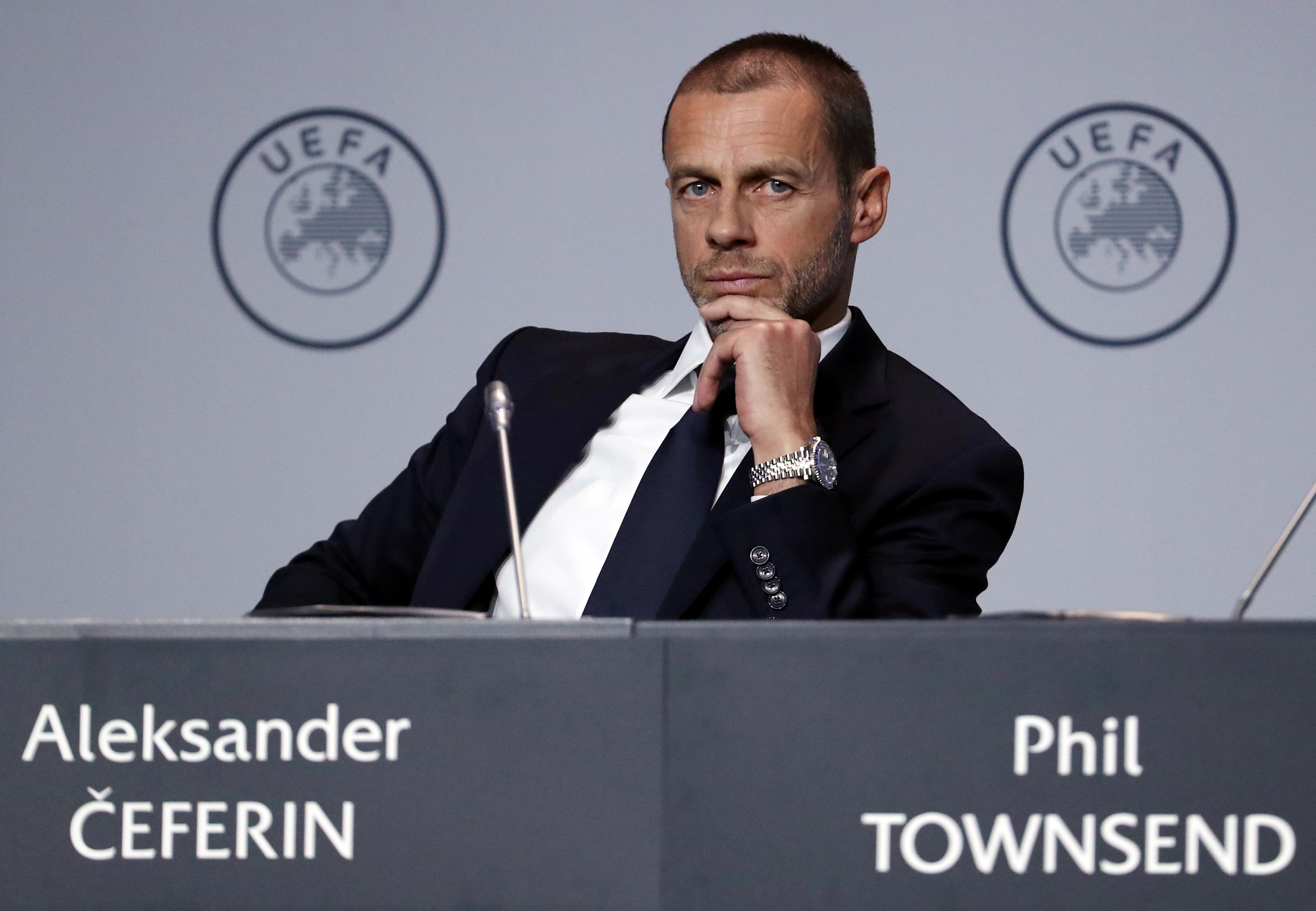 Football - Ligue 1 - Le président de l'UEFA juge que l'arrêt de la Ligue 1 a été «assez prématuré»