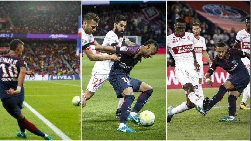 Football - Ligue 1 - Les cinq éclairs de génie de Neymar face à Toulouse