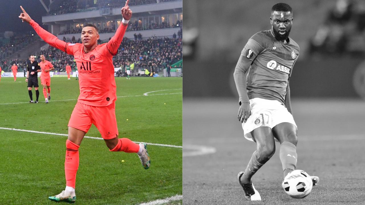 Football - Ligue 1 - Les notes de ASSE-PSG : les Verts craquent, Mbappé et Neymar (se) régalent