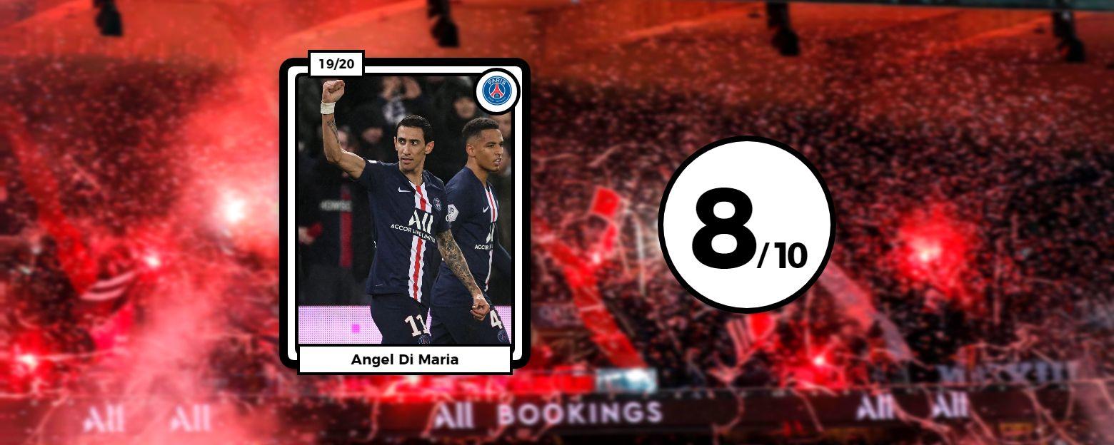 Football - Ligue 1 - Les notes de PSG-OL : Di Maria guide Paris, Marçal plombe Lyon