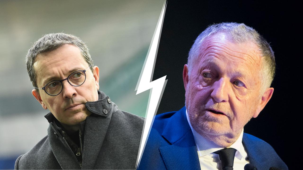 Football - Ligue 1 - Nouvelle guerre des mots entre Jacques-Henri Eyraud et Jean-Michel Aulas