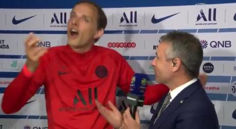 Football - Ligue 1 - PSG-Monaco: Tuchel fait le show au micro de Canal +