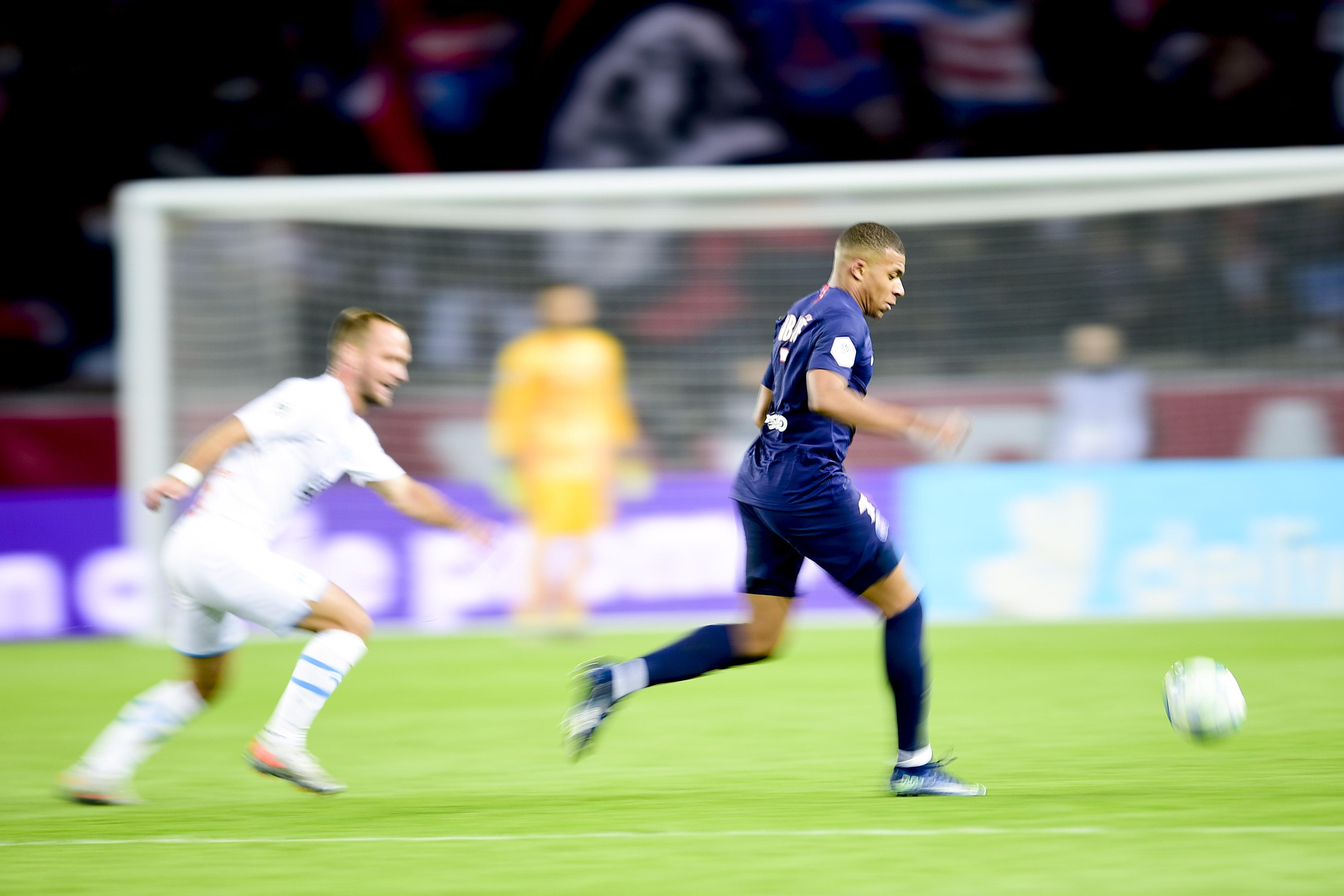 Football - Ligue 1 - PSG-OM: appel, sprint et vista ... le 2e but de Mbappé en vidéo