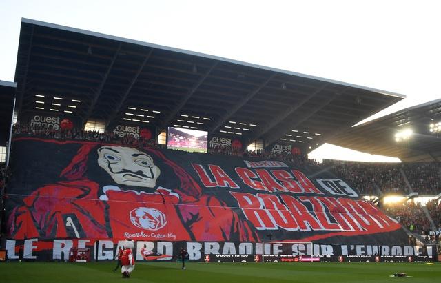 Football - Ligue 1 - Quand «la Casa de Papel» reprend un tifo du Stade Rennais